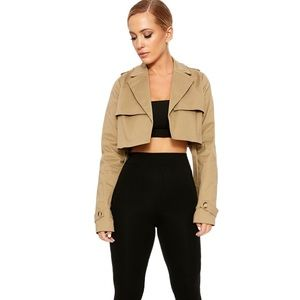 Crop Trench Jacket